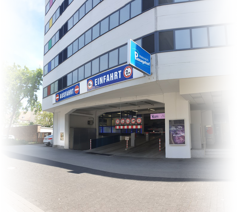 Einfahrt Parkhaus Passagehof Karlsruhe